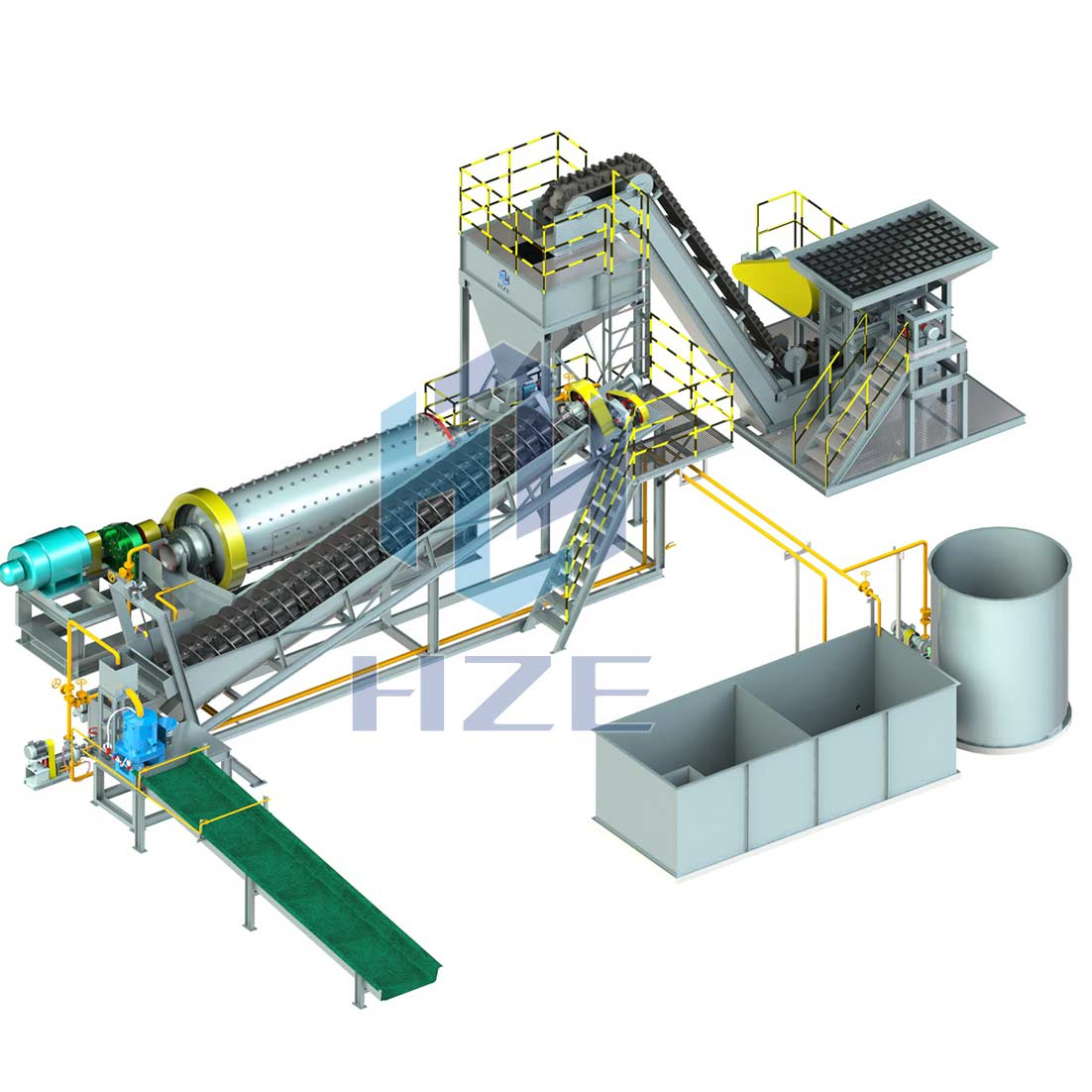 Small Scale Modular Gold Gravity Concentration Plant